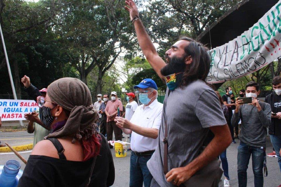 protesta UCV 23.01.2021