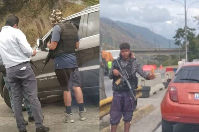 Alcabala de presuntos funcionarios sin uniforme en autopista Petare-Guarenas