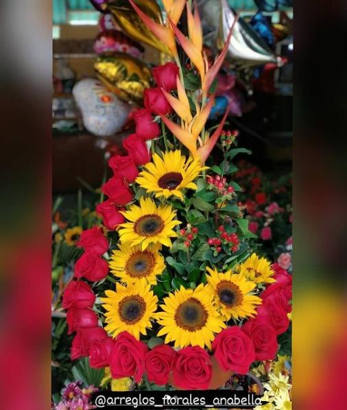 Arreglo floral para San Valentín