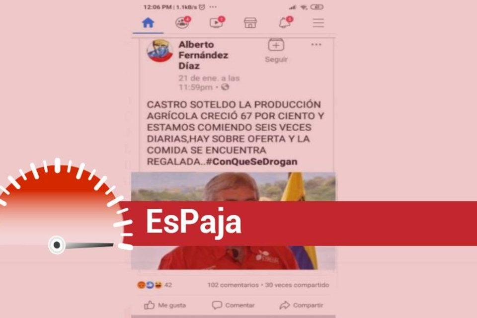 EsPaja agricultura Wilmar Castro Soteldo