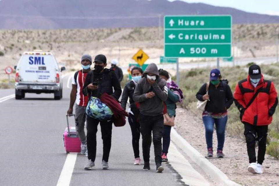 Venezolanos en Chile migrantes