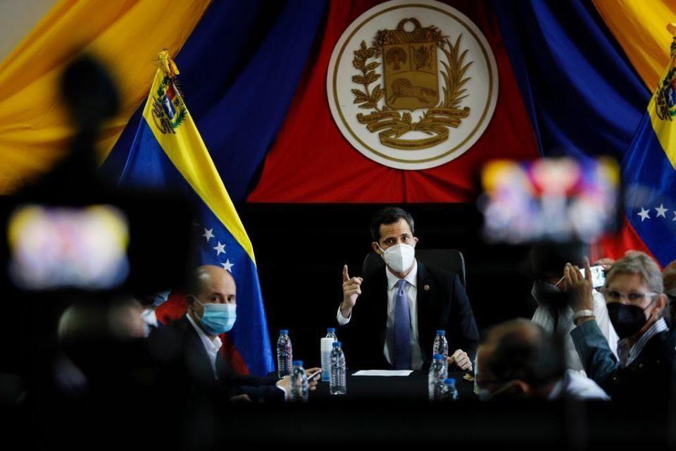 Guaidó y su consejo político Consejo del gasto
