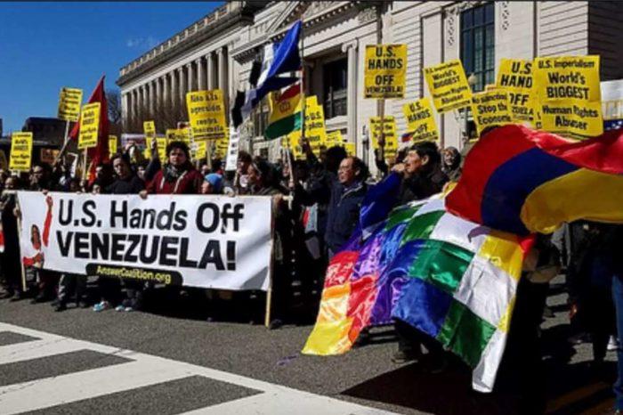 protesta contra las sanciones