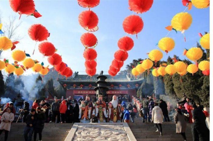 China celebración Dios de la riqueza