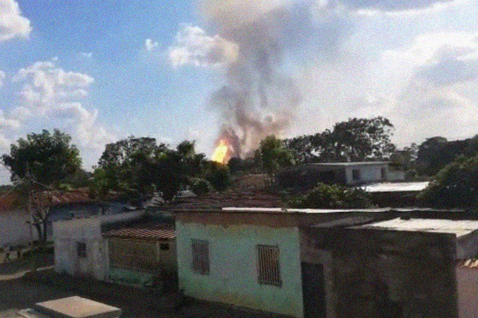 Incendio en planta de gas en Tejero, Monagas