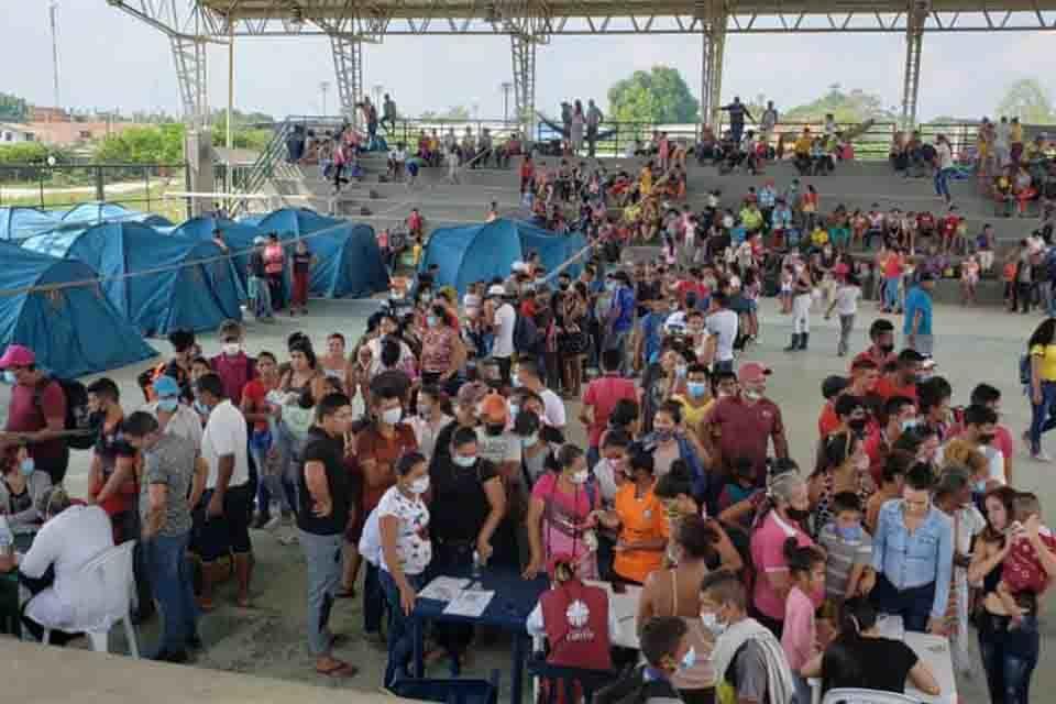desplazados - enfrentamiento en apure - arauquita - covid-19