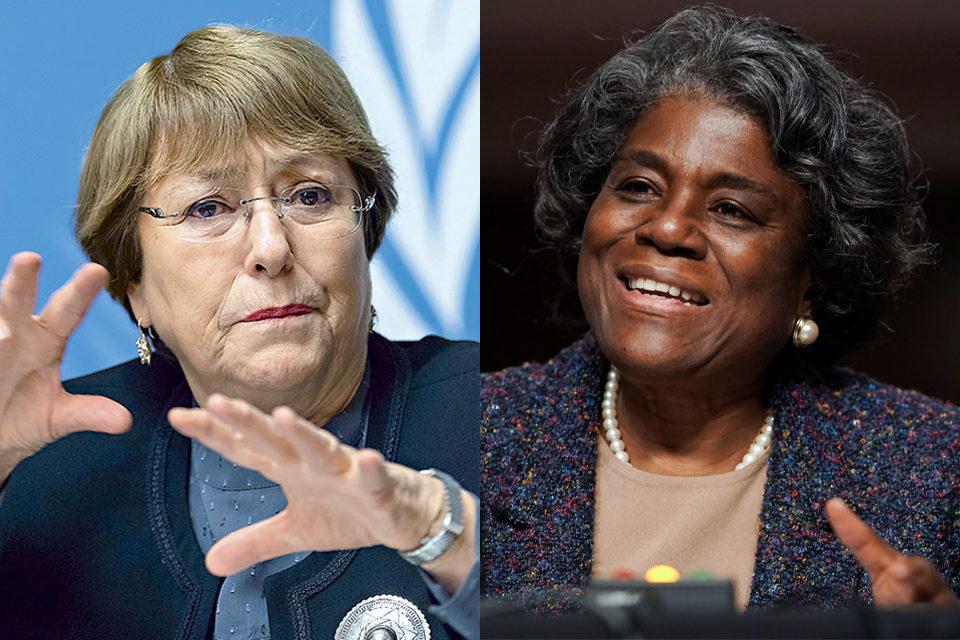 EEUU expresa a Bachelet preocupación sobre derechos humanos en Venezuela