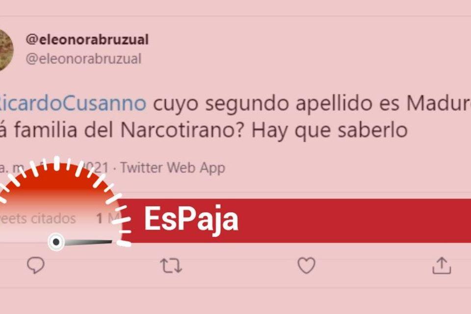 Ricardo Cusanno Maduro parentesco EsPaja