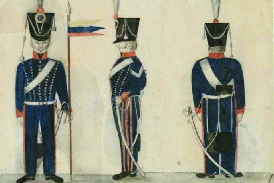 Militares en el 19 de abril de 1810