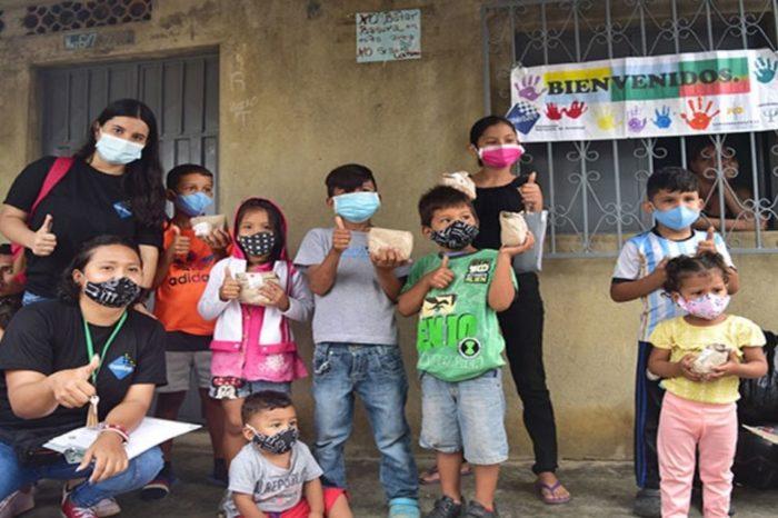 Niños venezolanos en La Parada Cúcuta