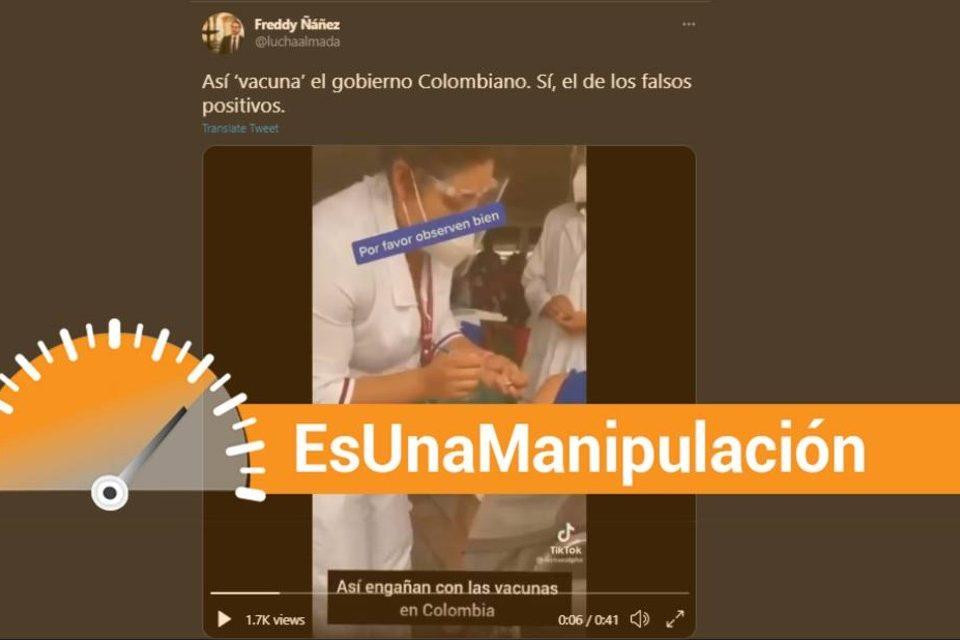 Freddy Ñáñez EsPaja video Colombia manipulación