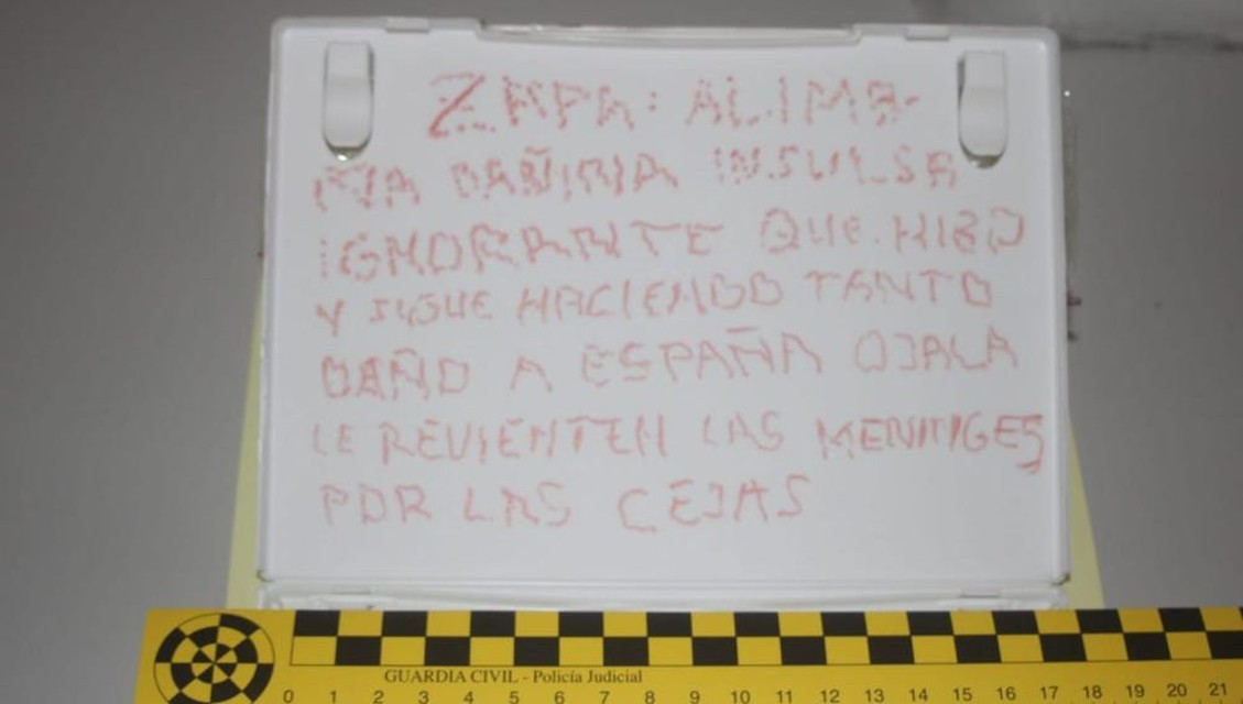 Nota contra Rodriguez Zapatero La Sexta