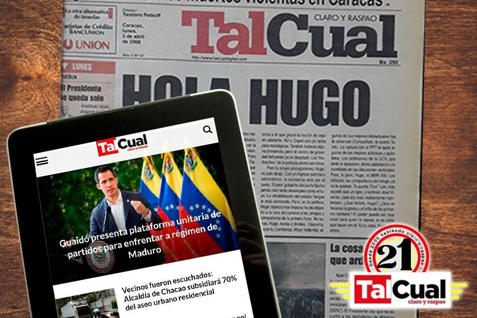 Portada Timeline historia de TalCual