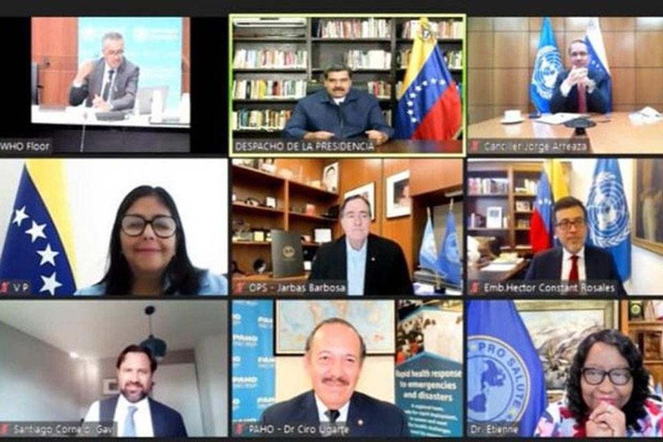 Reunión entre chavismo y OMS para discutir acceso a Covax