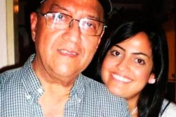 Carlos Bautista con su hija Viviana