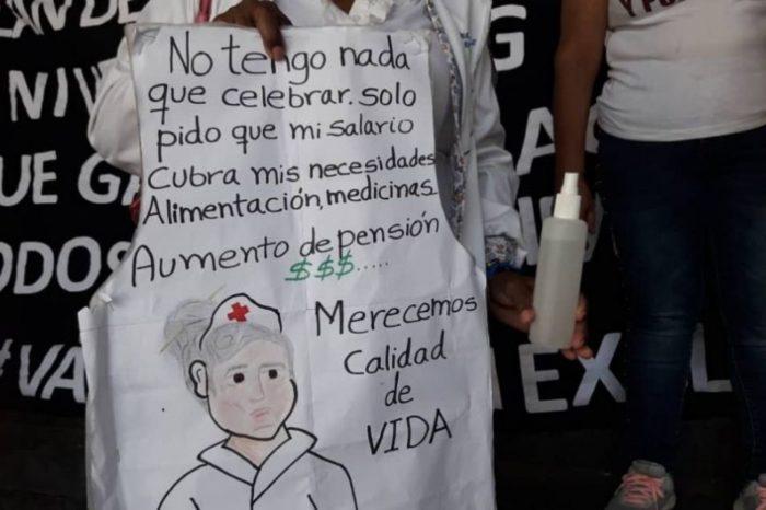 Enfermeras - protesta