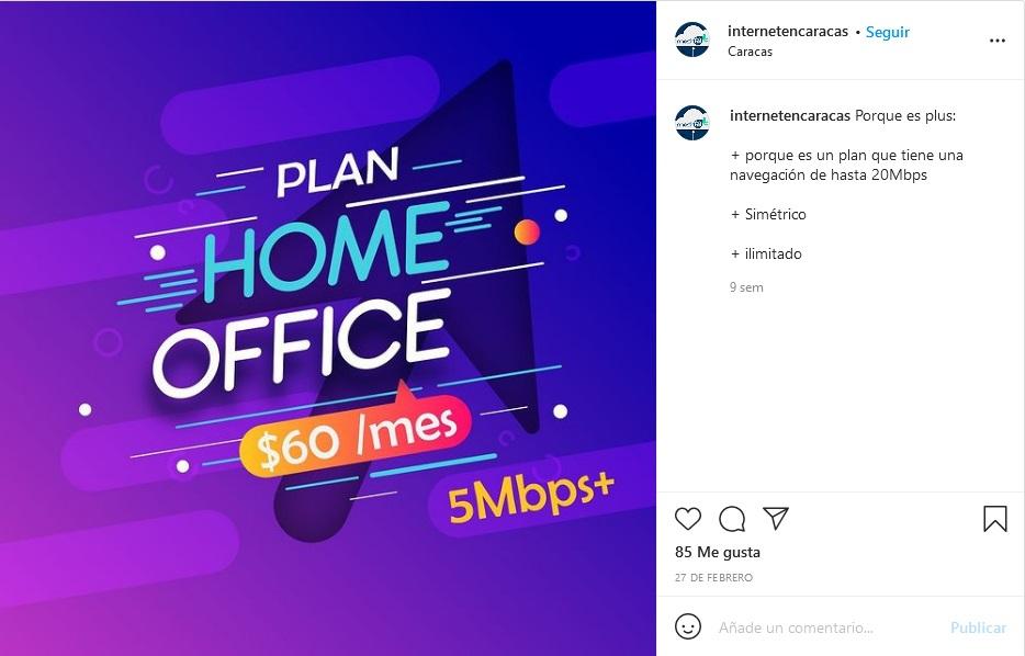 Internet doméstico en Caracas