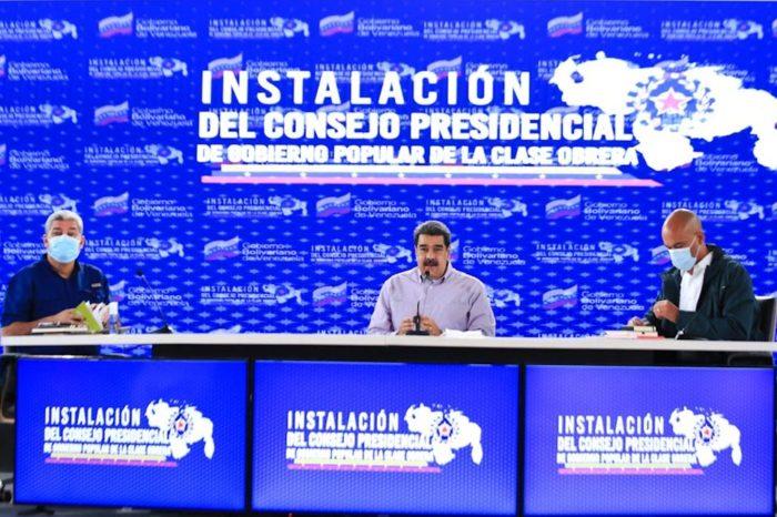 Maduro anuncia la creación del consejo presidencial de la clase obrera