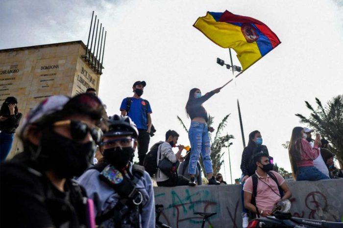 Manifestaciones en Colombia Bogotá