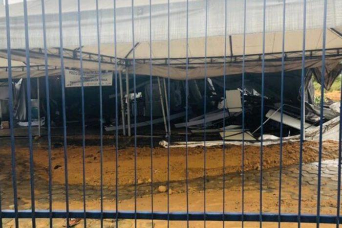 Refugio destruido en Manaos