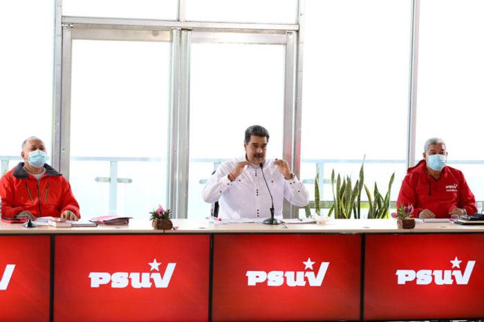 Nicolás Maduro reunido con la directiva del PSUV