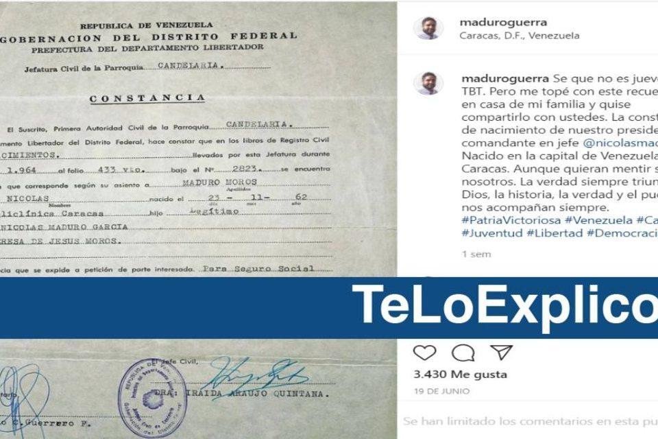 Maduro acta de nacimiento EsPaja