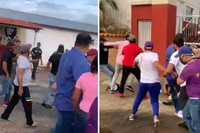 Chavistas golpes Barinas