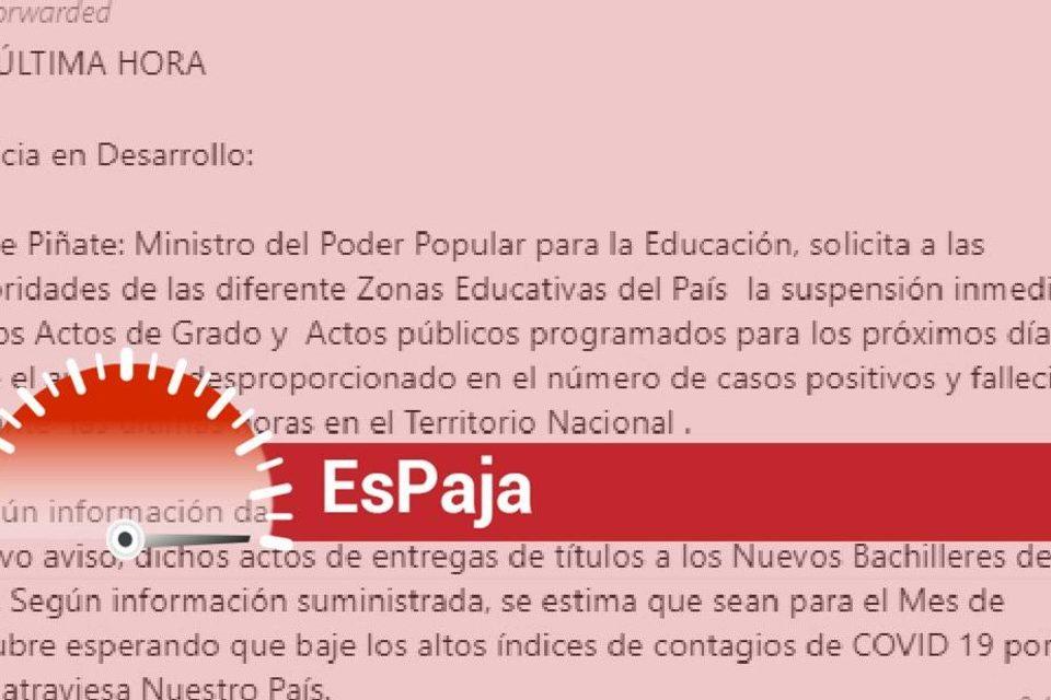 actos de grado suspenden Eduardo Piñate Educación Espaja