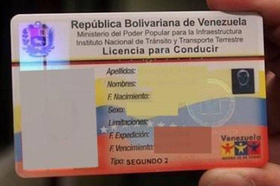 licencia de conducir Venezuela España
