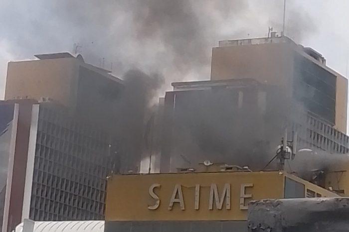 Incendio sede Saime plaza Caracas 17.08.2021