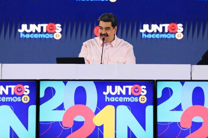 Maduro celebra participación el G4 en elecciones del 21N