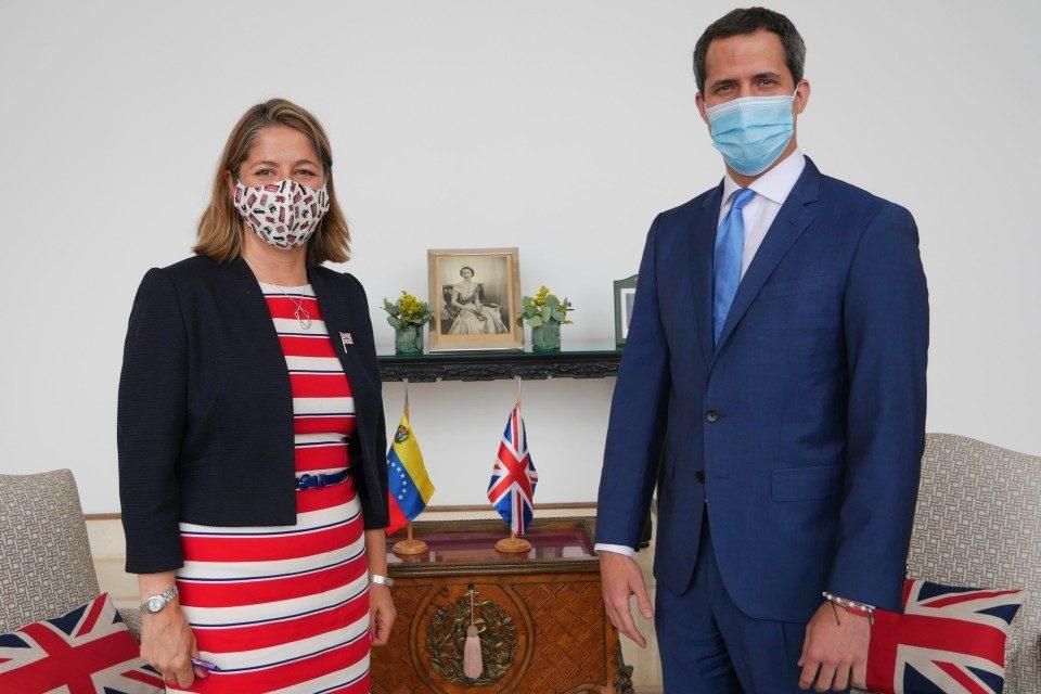 Reino Unido Rebecca Buckingham Juan Guaidó