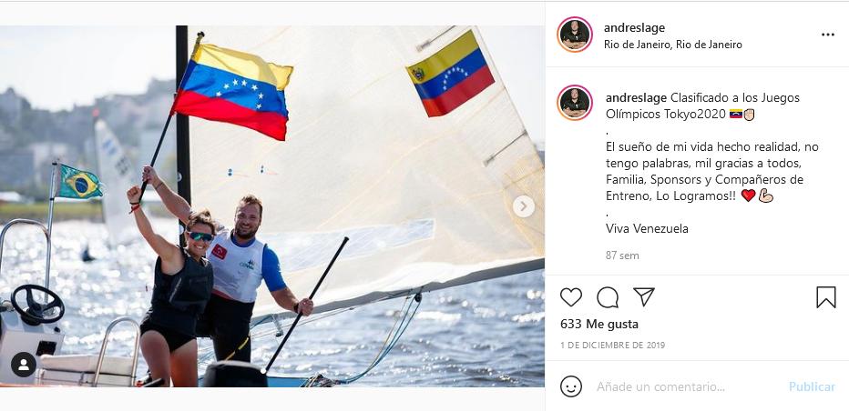 Andrés Lage clasificó a los Juegos Olímpicos Tokio 2020