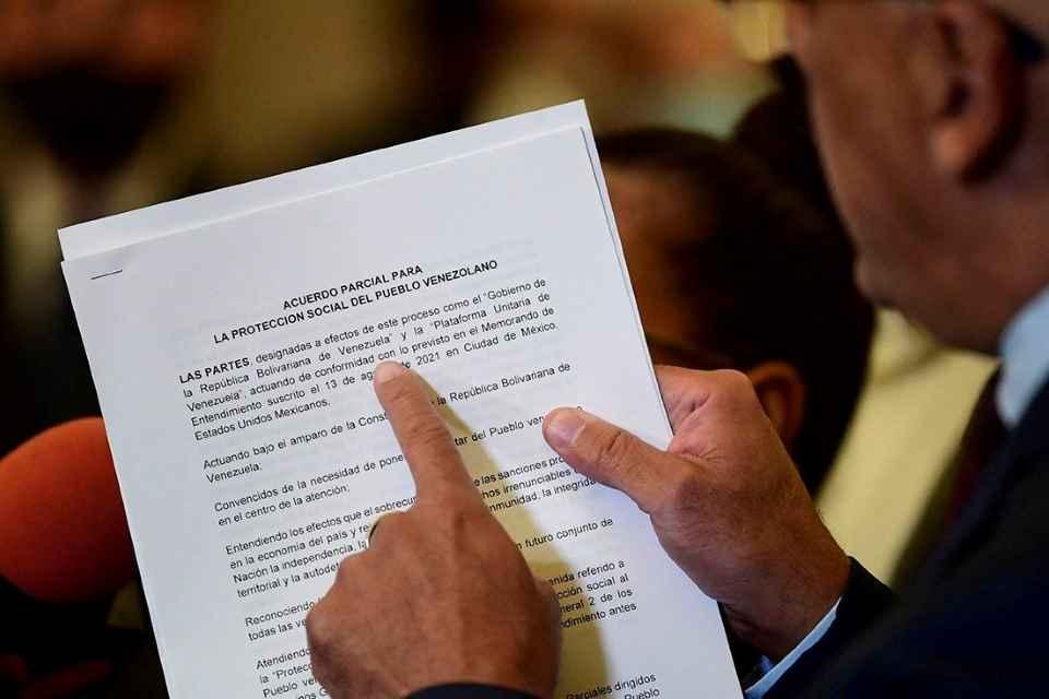 Acuerdo y diálogo en México Jorge Rodríguez documento protección social Foto de AFP EEUU