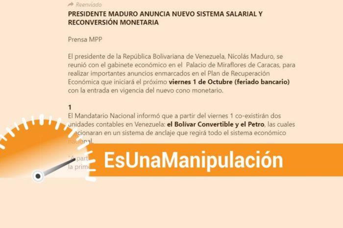 EsPaja Maduro reconversión salario petro