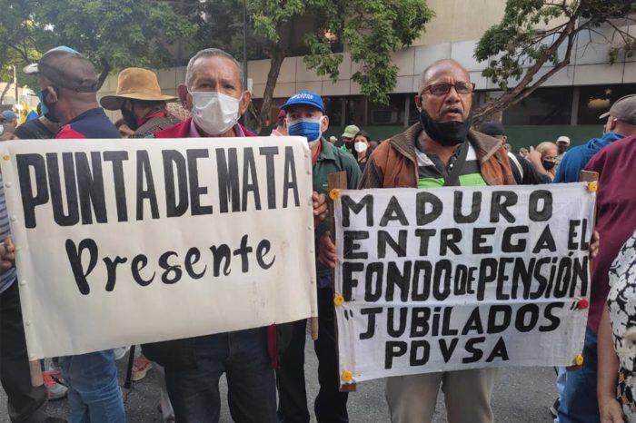 Protestas de jubilados de Pdvsa