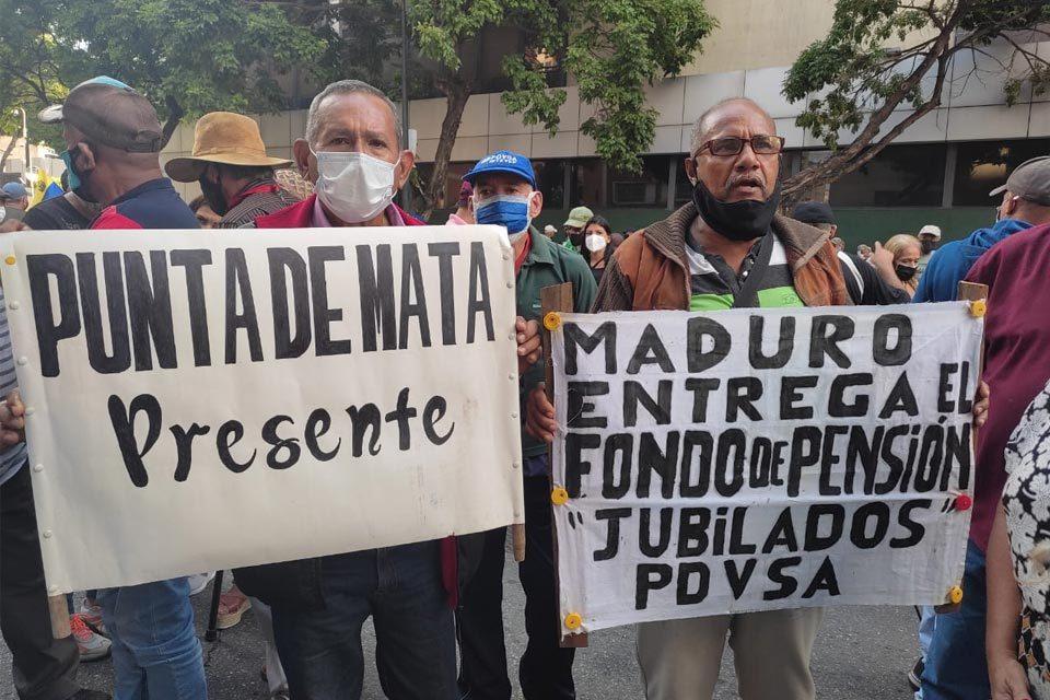 Protesta de jubilados de Pdvsa
