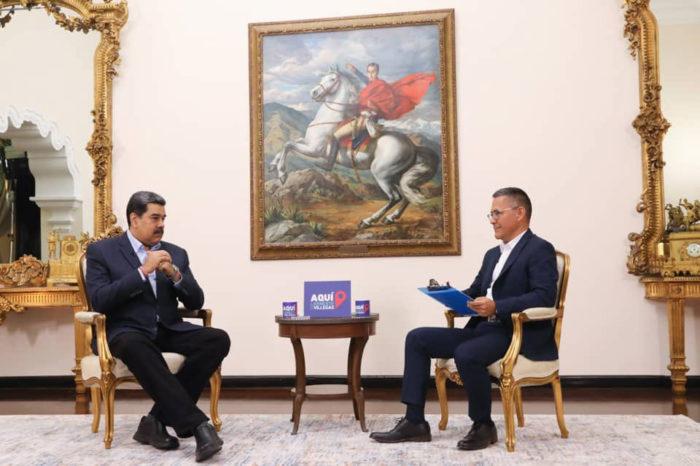 Nicolás Maduro entrevistado por Ernesto Villegas