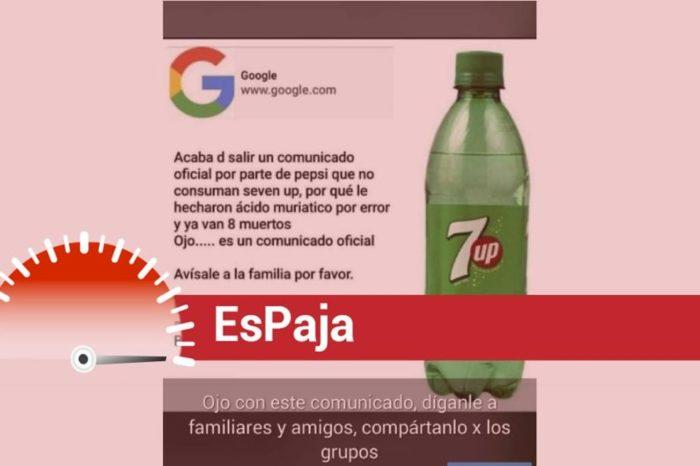 7UP Es Paja refresco acido muriatico