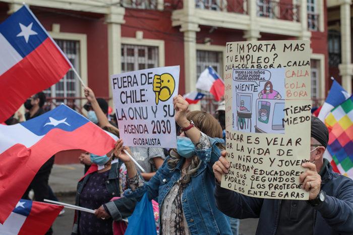 Marchas anti y pro migración