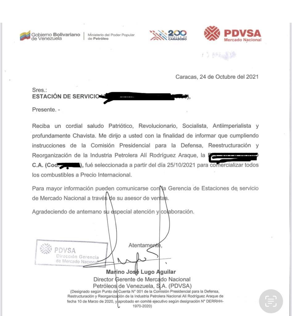 Pdvsa autorizó a estaciones de servicio el alza en el precio del diésel a $0,50