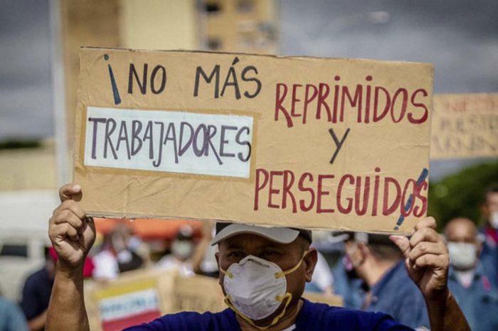 Protesta laboral Bolívar Foto Correo del Caroní conflictos laborales