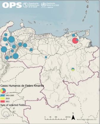 Casos de fiebre amarilla en Venezuela